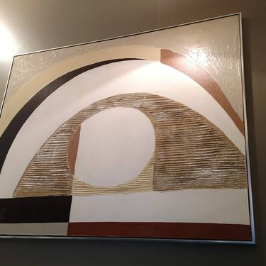 Mid Century Lee Reynolds Abstract Painting - 60x48 by ProRefineFurnishings