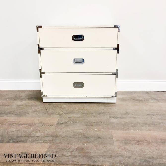 CUSTOMIZABLE: Campaign Style Nightstand by VintageRefinedDecor