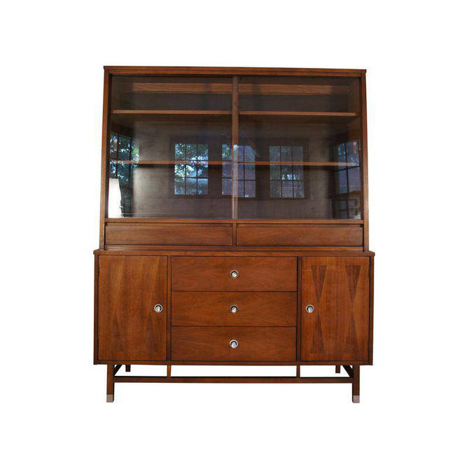 Stanley Furniture Walnut China Buffet Cabinet by MetronomeVintage - Stanley Furniture Walnut China Buffet Cabinet By MetronomeVintage