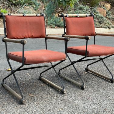 Cleo Baldon Wrought Iron Arm Chairs for Terra 1966 by HollywoodHillsModern