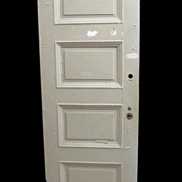 Antique Lamb's Club 4 Pane Wood Passage Door 83.25 x 29.5