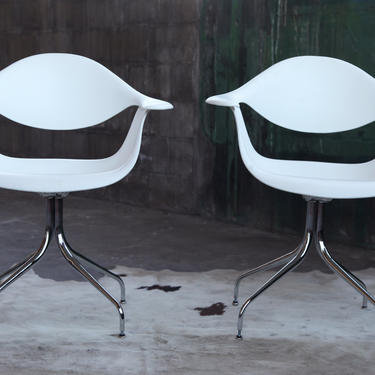 George Nelson for Herman Miller PAIR of Swag Chairs, Originally designed in 1958, 50's Mid Century Eames MCM by CatchMyDriftVintage