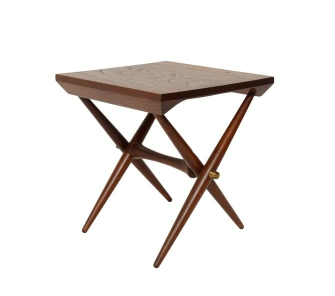Jens Quistgaard Teak Side Table Staved Teak Danish Modern by HearthsideHome