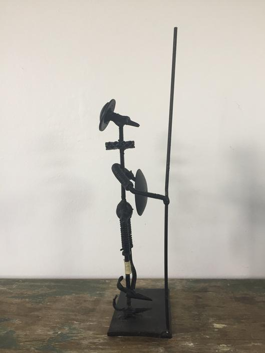 "Vintage ""Nuts and Bolts"" Style Iron Don Quixote Sculpture Made in Spain by ModandOzzie"