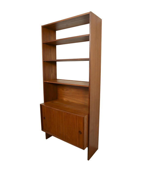 Danish Modern Teak Bookcase Wall Unit  Floating Cabinet by HG Furniture Hansen Guldborg by HearthsideHome