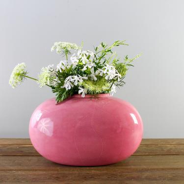 Haeger Oval Ceramic Vase 4317, Multi Avail – Pink, White, VINTAGE 80s Mod Art Pottery, Modern Minimalist Decor by ArchiveHomeVintage