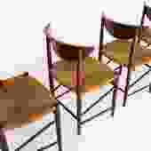 Set of Six Peter Hvidt Dining Chairs