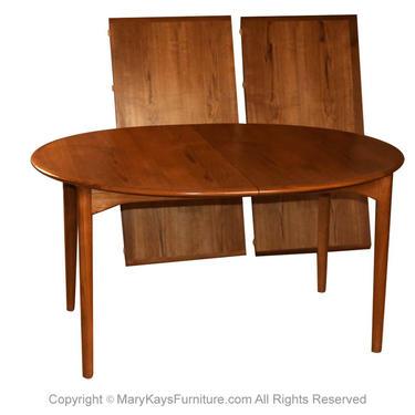 Mid Century Erik Buck for Povl Dinesen Danish Teak Extendable Dining Table by Marykaysfurniture