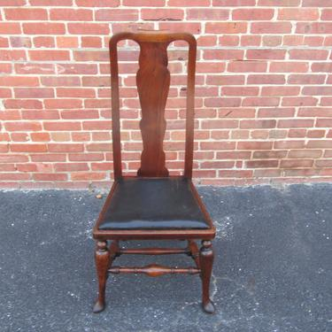 Set Of Four English Solid Walnut 19c Queen Anne Dining Chairs by LarkinsAtticHUDSONNY