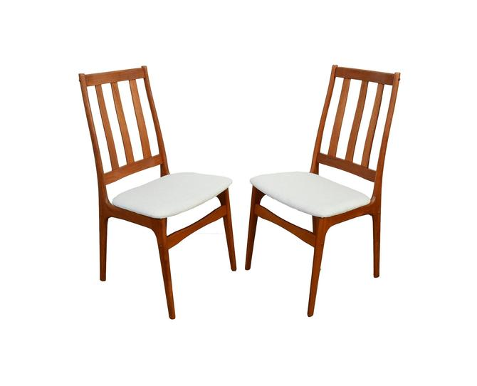 Teak Dining Chairs Set of 4 Chairs Danish Modern by HearthsideHome