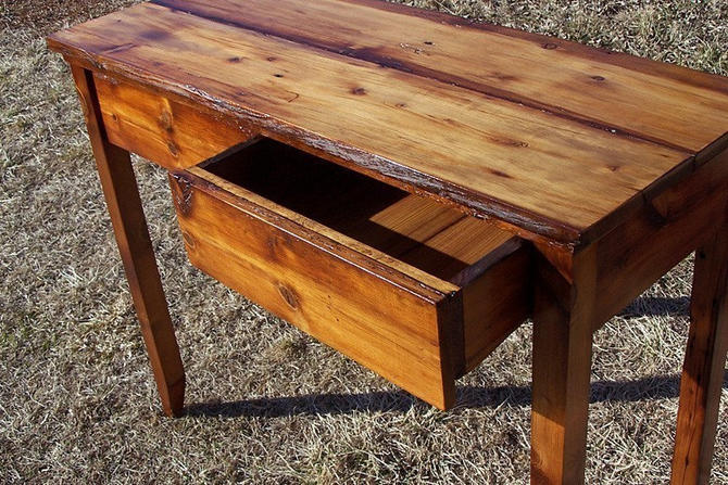 Hall Console Table and Writing Desk by StrongOaksWoodshop