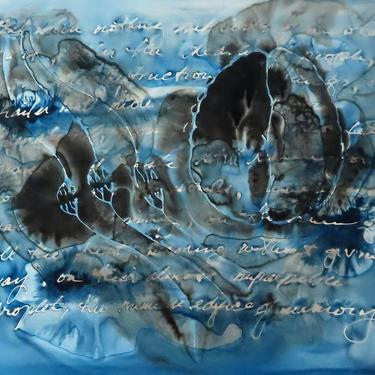 Sense Memory Remains: Original ink painting on yupo - neuroscience art literature Proust by artologica