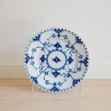 Royal Copenhagen Blue Fluted Full Lace Bread and Butter Plate Made in Denmark, 1088 by MidCentury55