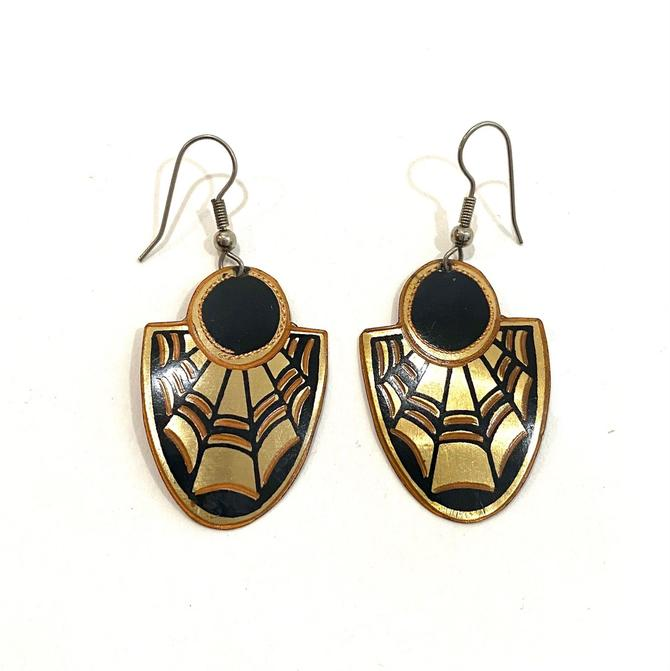 art deco style lightweight earrings by harlowandspring