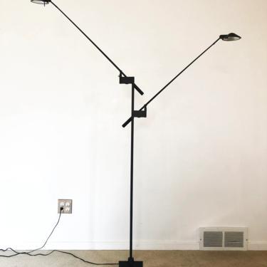 post modern Robert Sonneman George Kovacs Feather double floor lamp mid century by TripodModern