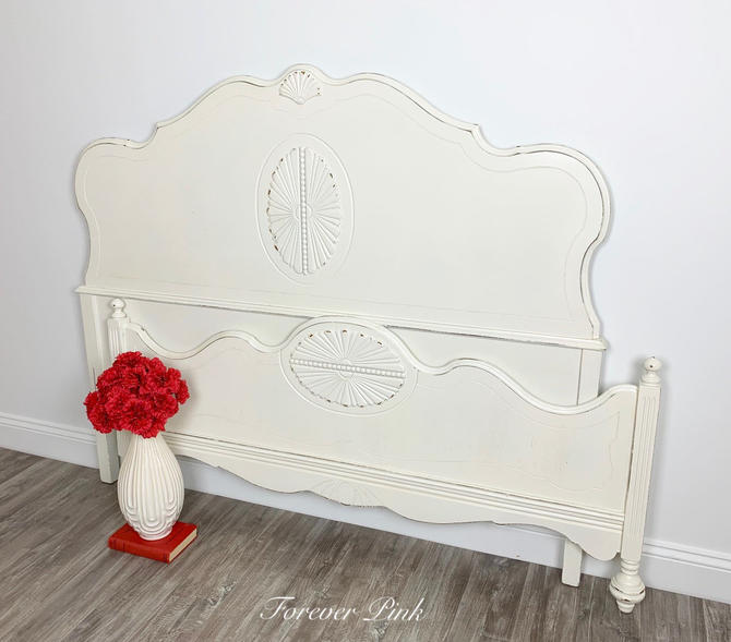 Vintage White Full or Queen Bed by ForeverPinkVintage