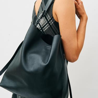 AllSaints The Paradise North South Leather Tote Bag