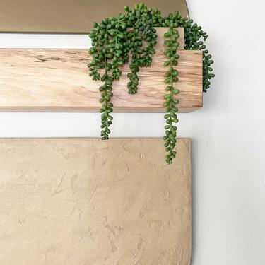 """Totem """"Legato"""" TEXTURED-PAINTED ledge, shelf wallhanging, storage, decor shelf, boho decor by shopcandiceluter"""
