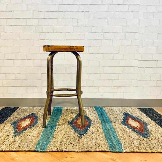 Vintage Stool | Metal Stool | Wood Stool | Loft Living | Industrial Chic | Workshop Stool by PiccadillyPrairie