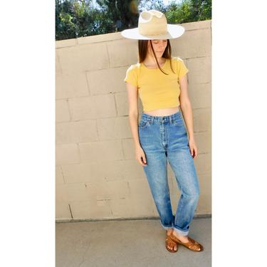 USA Levis 505 Jeans // vintage Levi's denim 1980s high waist hippie dress hippy Levi medium wash 80s 26 mom jeans // 26 by FenixVintage