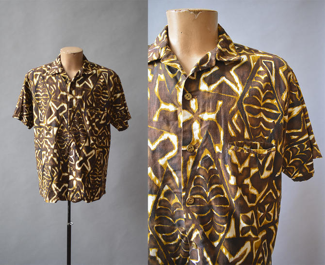04e4b7b4 Vintage Hawaiian Button Up / Mens Vintage / 1960s Hawaiian Shirt ...