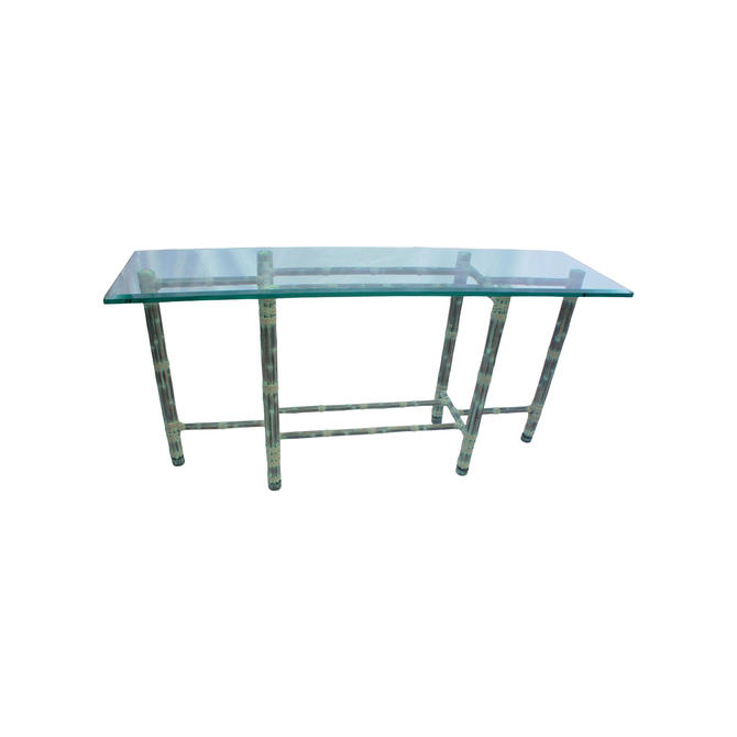 Vintage Asian Modern McGuire Console Table by MetronomeVintage