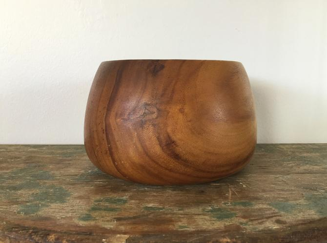 Vintage Monkeypod Wood Bowl Made in the Philippines by ModandOzzie