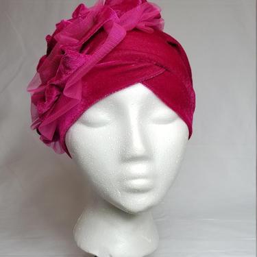 Turban cap with ruffles by GLAMMfashions