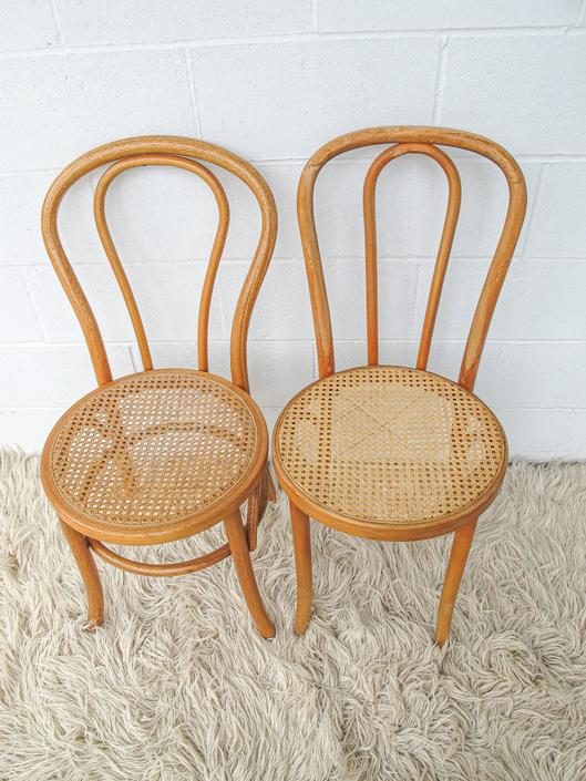 Vintage Bentwood Chair with Cane Seats (Sold Separately) by PortlandRevibe