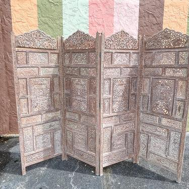Moroccan Chic Four Panel Screen