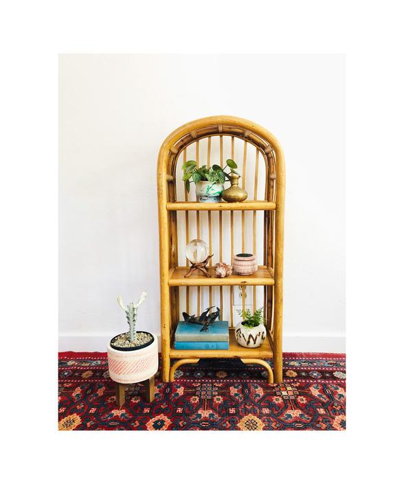 Vintage Arched Rattan Shelf by SergeantSailor