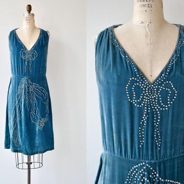 Bonjour Adieu dress   vintage 1920s dress   silk velvet 20s dress by DEARGOLDEN