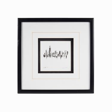 Chicago Skyline Giclée Print on Paper by VintageInquisitor