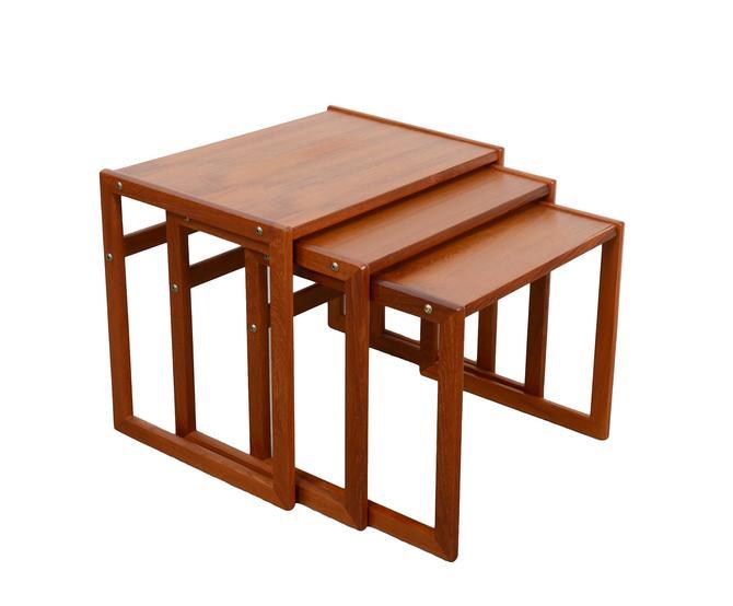 Teak Nesting Tables Made in Denmark Danish Modern by HearthsideHome