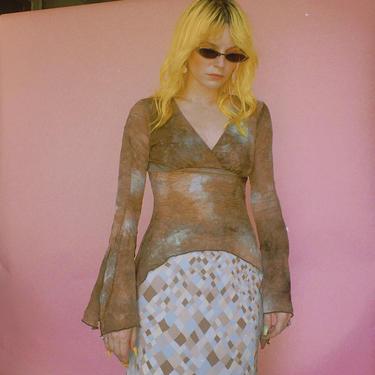 90s Rave Tie-dye Asymmetrical Top by TheMetalRomanticShop