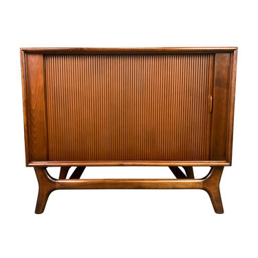 Vintage Mid Century Modern Walnut Record Cabinet by Packard Bell by AymerickModern