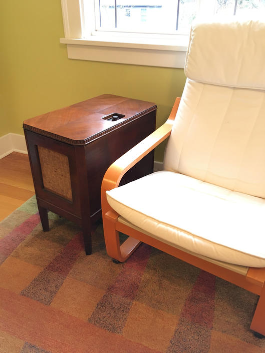 Restored 1931 Philco Chairside Radio, 370 Lazyboy, Norman Bel Geddes by Deco2Go