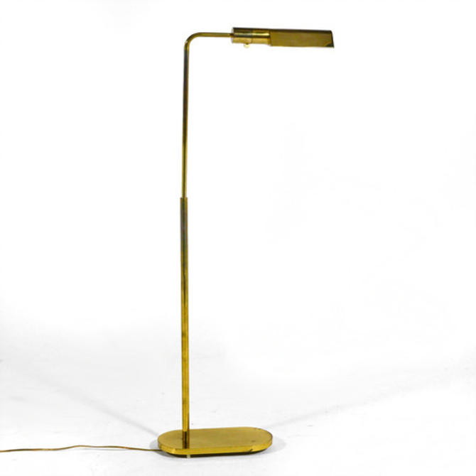 Casella Adjustable Brass Pharmacy Floor Lamp