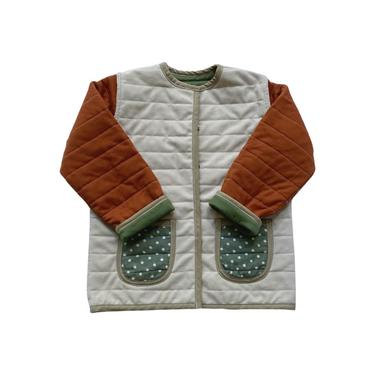 AUTUMN LEAVES REVERSIBLE QUILTED JACKET