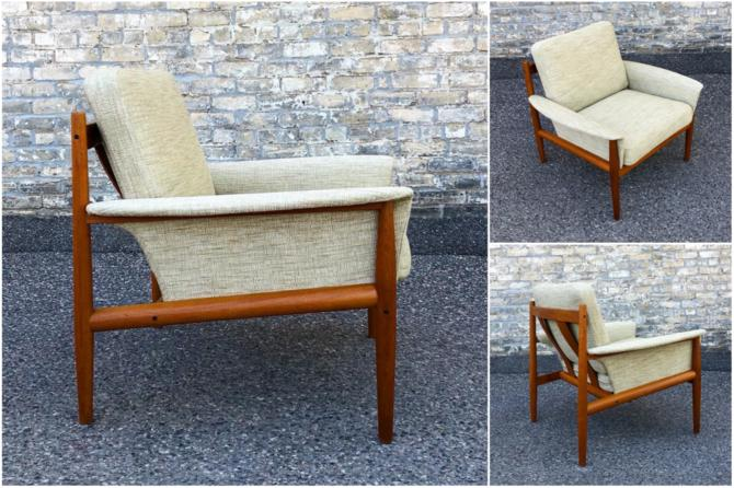 Teak Frame Chair By Grete Jalk For France & Son