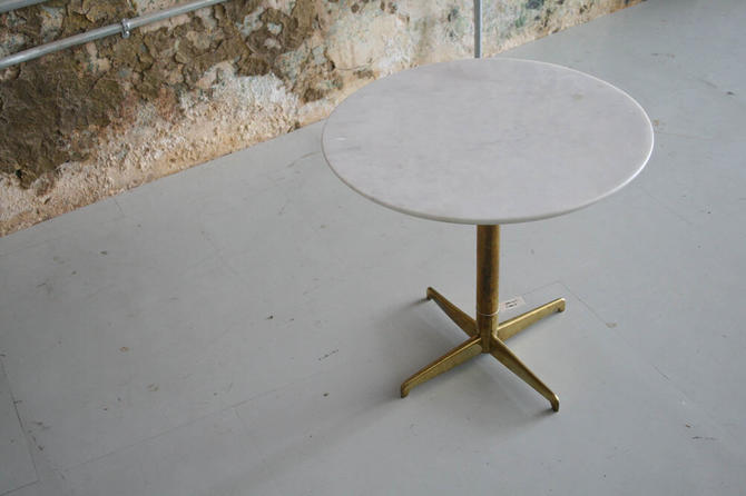 Marble / Brass Side Table (Made in Italy)