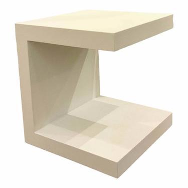 Bungalow 5 Modern Linen White Tea Side Table