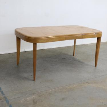 Mid-Century Modern Heywood Wakefield Wheat Extendable Dining Table by AnnexMarketplace