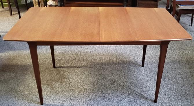 Item #S103 Mid Century Modern Teak Dining Table w/ Butterfly Leaf c.1960s
