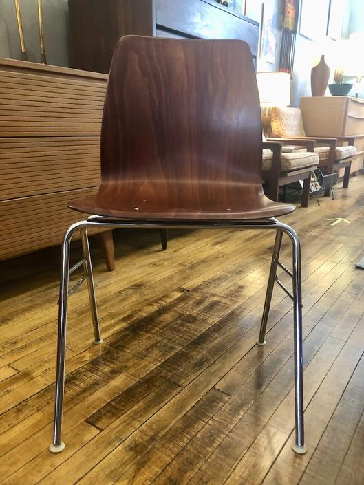 West German Pagholz Bent Rosewood Side Chair