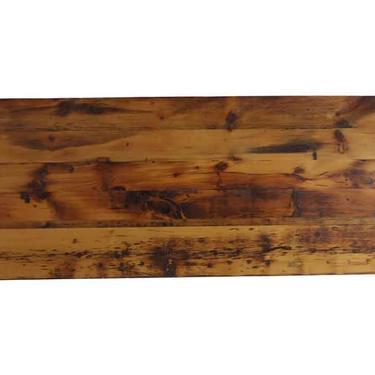 Handmade 8 ft Golden Oak Stained Reclaimed Pine Tabletop