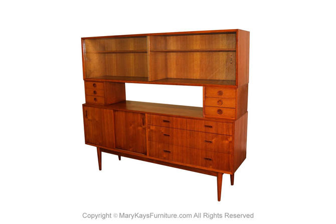 Mid Century Teak Credenza Room Divider by LYBY Mobler by Marykaysfurniture