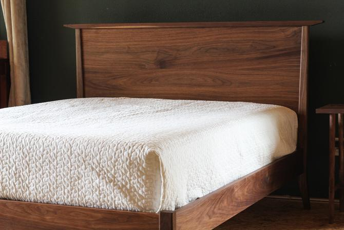 Mid Century Modern Bed by MakersWoodworks