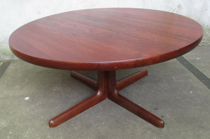NIELS MOLLER DANISH MODERN ROUND TEAK COFFEE TABLE mid century gudme