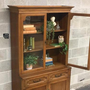 LOCAL PICKUP ONLY ———— Vintage Keller China Cabinet by RetrospectVintage215